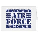 Tío de la fuerza aérea tarjeta