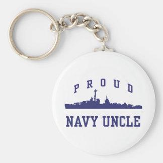 Tío de la marina de guerra llavero redondo tipo pin