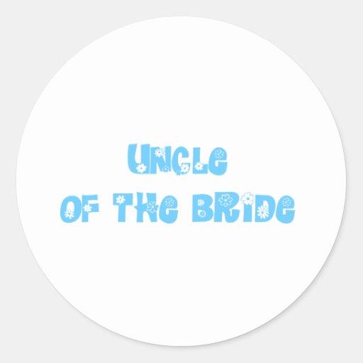 Tío de la novia pegatina redonda