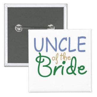 Tío de la novia pin cuadrada 5 cm