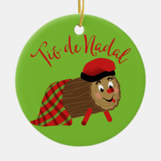 Tio De Nadal Ceramic Ornament