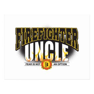 Tío del bombero tarjeta postal