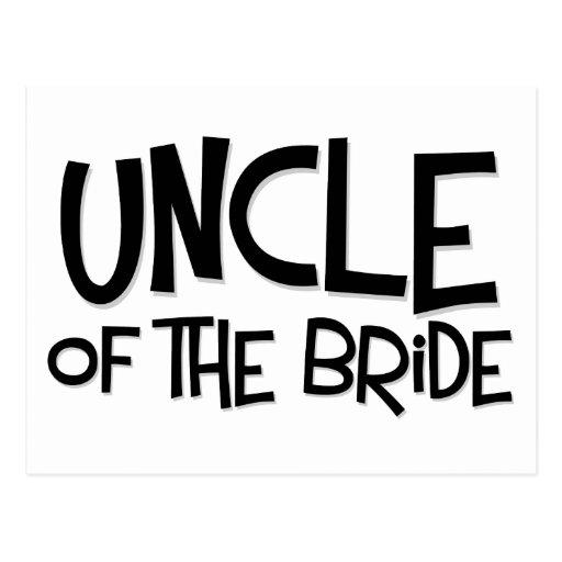 Tío del inconformista de la novia tarjetas postales