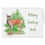 Tío divertido del cumpleaños, alguien ciervos a mi felicitaciones