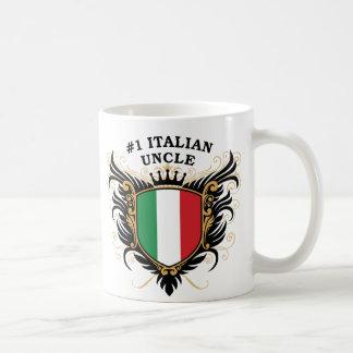 Tío italiano del número uno tazas