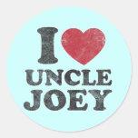 Tío Joey del amor del vintage I Etiqueta Redonda