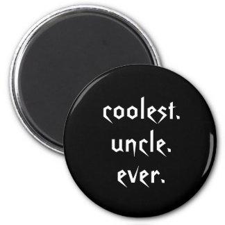 Tío más fresco blanco negro Ever Magnet Imán Redondo 5 Cm