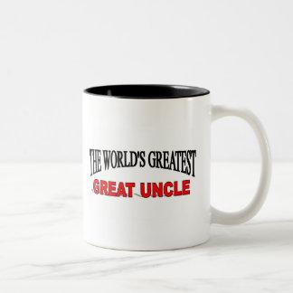Tío más grande del mundo el gran taza de dos tonos
