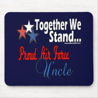 Tío orgulloso de la fuerza aérea mouse pad