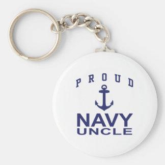 Tío orgulloso de la marina de guerra llavero redondo tipo pin