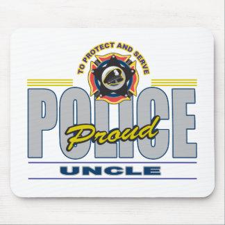 Tío orgulloso de la policía tapetes de ratón