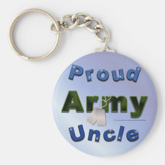 Tío orgulloso Keychain del ejército Llavero Redondo Tipo Pin