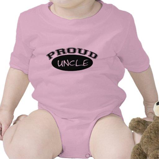 Tío orgulloso (negro) trajes de bebé
