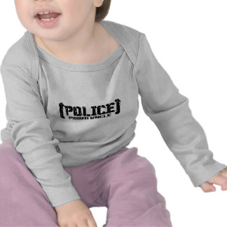 Tío orgulloso POLICE hizo andrajos Camisetas