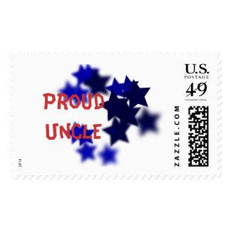Tío orgulloso Stamp Timbre Postal