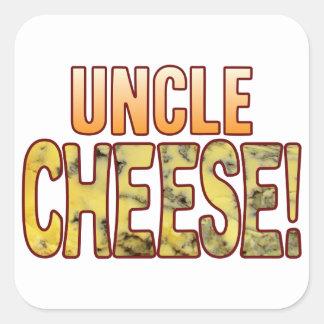 Tío queso verde pegatina cuadrada