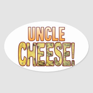 Tío queso verde pegatina ovalada