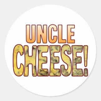Tío queso verde pegatina redonda