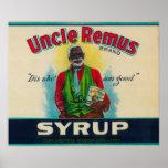 Tío Remus Syrup LabelCairo, GA Poster