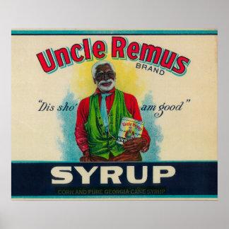 Tío Remus Syrup LabelCairo, GA Póster
