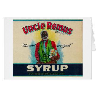 Tío Remus Syrup LabelCairo, GA Tarjeton
