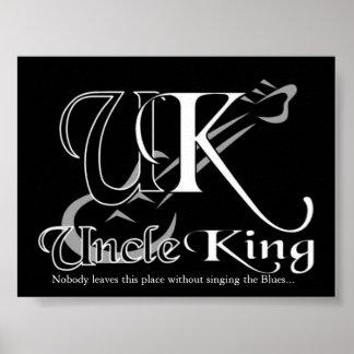 Tío rey Black Logo Póster