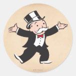 Tío rico Pennybags 1 Etiqueta Redonda