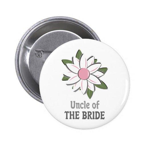 Tío rosado de la flor de la novia pins