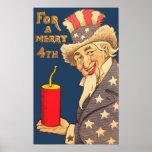 Tío Sam 4to del vintage del poster de julio