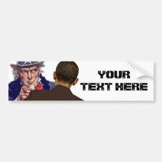 Tío Sam a Obama Pegatina De Parachoque