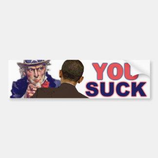 Tío Sam a Obama Pegatina Para Auto