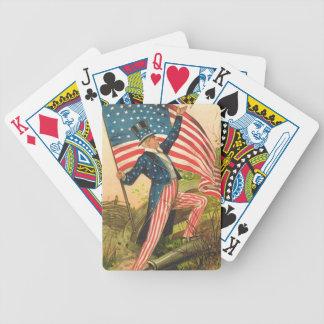Tío Sam con los naipes de la impresión del vintage Baraja Cartas De Poker