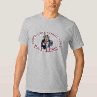 Tío Sam de la camiseta del taladro Camisas