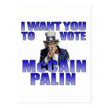 Tío Sam de McCain Palin Postal