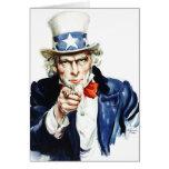 Tío Sam - del poster de Flagg del vintage Felicitacion