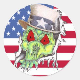 tío Sam del zombi Pegatina