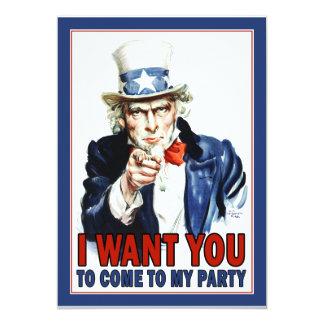 Tío Sam - LE QUIERO - invitación del fiesta