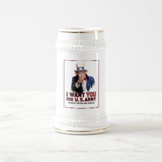 """Tío Sam """"le quiero """" Jarra De Cerveza"""