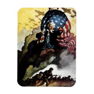 Tío Sam - N.C. Wyeth Magnet Imanes Rectangulares