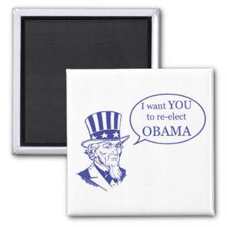 Tío Sam - Obama Iman Para Frigorífico