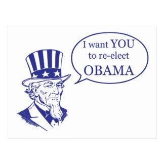 Tío Sam - Obama Tarjetas Postales
