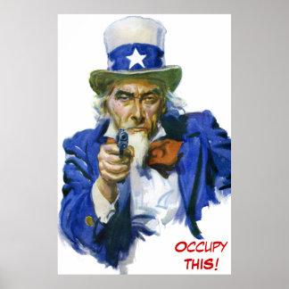 ¡Tío Sam - ocupe ESTO! Anti-Ocupe el movimiento Poster
