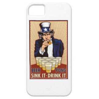 tío Sam que juega la cubierta del iphone del pong  iPhone 5 Case-Mate Carcasa