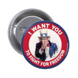 Tío Sam: ¡Quisiera que usted luchara para la liber Pin
