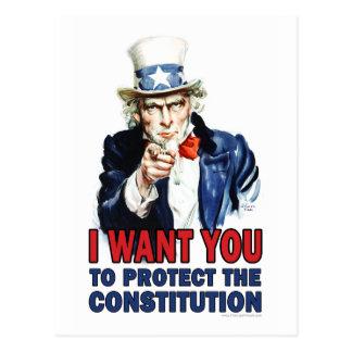 Tío Sam: Quisiera que usted protegiera la constitu Tarjeta Postal