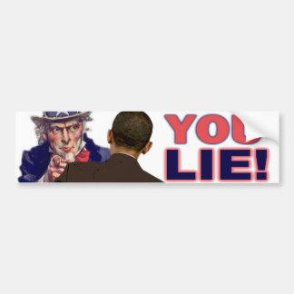Tío Sam: ¡Usted miente! Pegatina Para Auto
