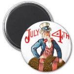 Tío Sam vintage 4 de julio patriótico Iman De Nevera