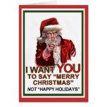 Tío Santa Wants You Card Tarjetón