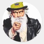 Tío Shmuel Pegatina Redonda