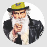 Tío Shmuel Pegatinas Redondas